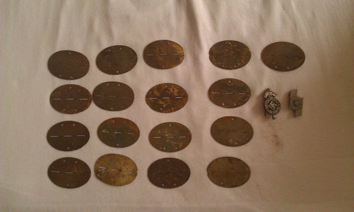 Metal Detecting in Berlin found 21 Dog Tags! - Friendly