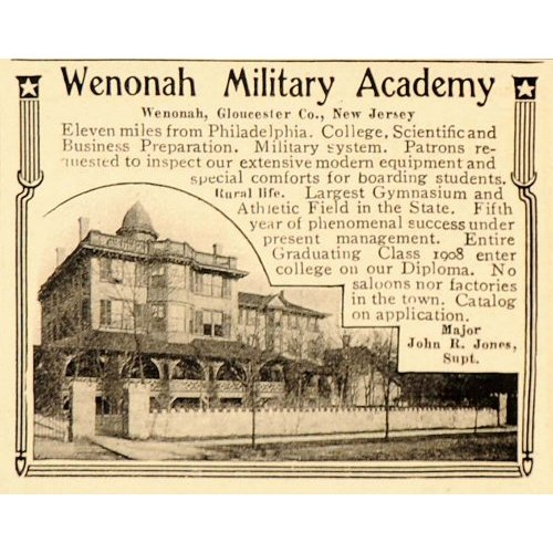 Ca1902 Wenonah Military Academy Nj Hat Pin Badge Friendly