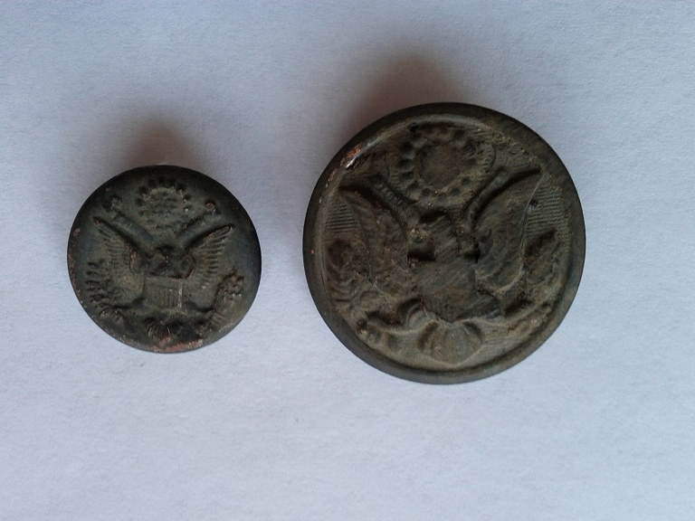Old military buttons
