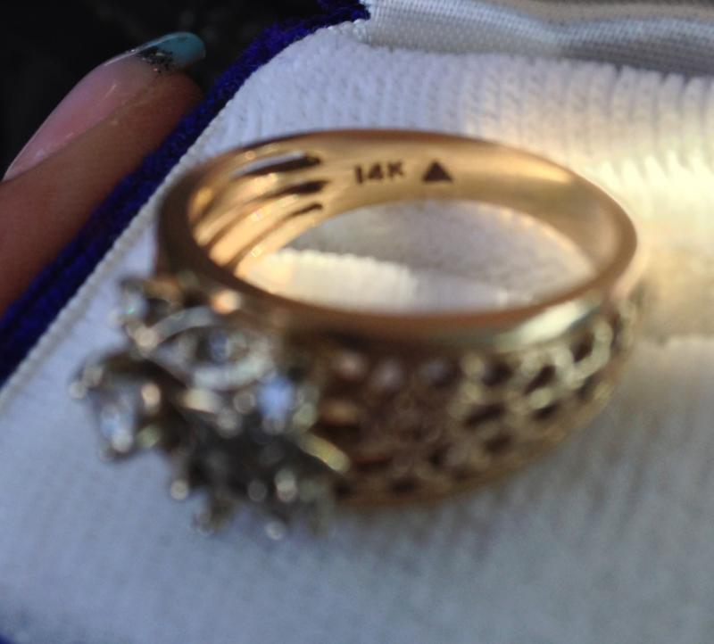 Triangle Stamped Symbols Inside Ring