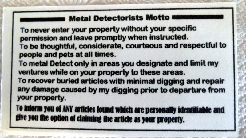 Metal detector hobbyist business card example friendly metal attached images colourmoves